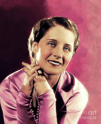 Royalty-Free and Rights-Managed Images - Norma Shearer, Vintage Actress by John Springfield