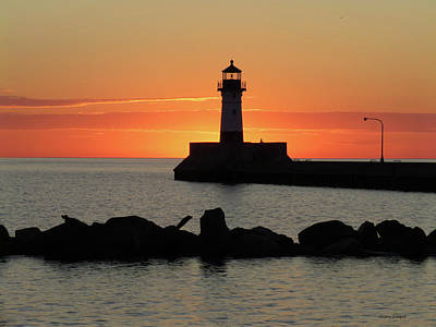 Up Up And Away - North Pier Sunrise by Alison Gimpel