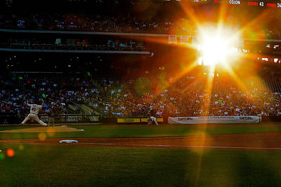 Photograph - Oakland Athletics V New York Mets by Mike Stobe
