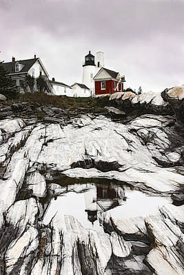 Digital Art - Pemaquid Lighthouse In Bristol Maine by Jeff Folger