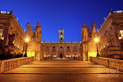 Bath Time Rights Managed Images - Piazza Campidoglio Royalty-Free Image by Brian Jannsen
