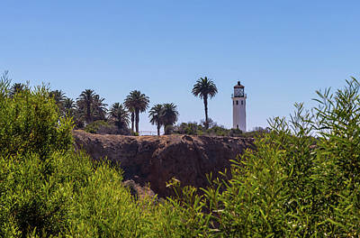 Art Print featuring the photograph Point Vicente Lighthouse by Ed Clark