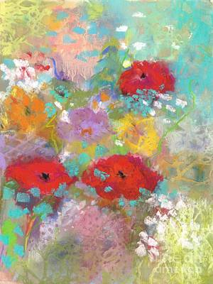 Painting - 3 Poppies by Frances Marino