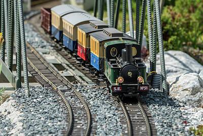 Edward Hopper - Railway modelling train outdoors on a sunny day by Stefan Rotter