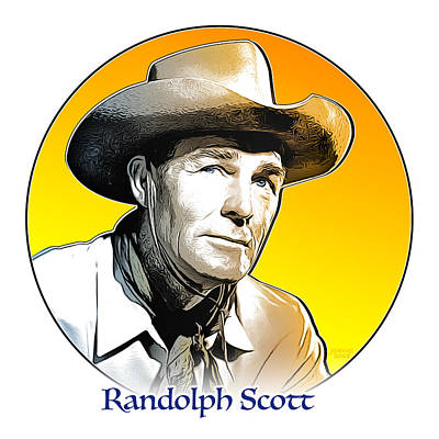 Digital Art - Randolph Scott by Greg Joens