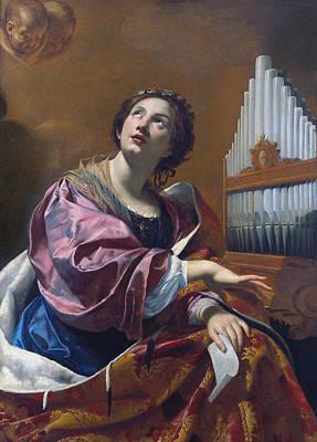 Painting - Saint Cecilia by Simon Vouet