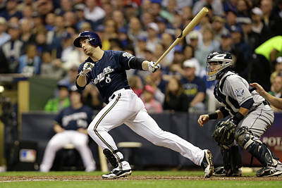 Scoring Photograph - San Diego Padres V Milwaukee Brewers by Mike Mcginnis