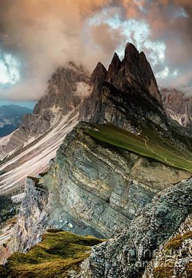 Wall Art - Photograph - Seceda 2500m.... by Sebastien Coell
