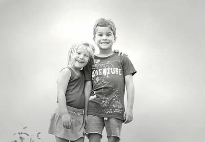 Photograph - Siblings by Fraida Gutovich