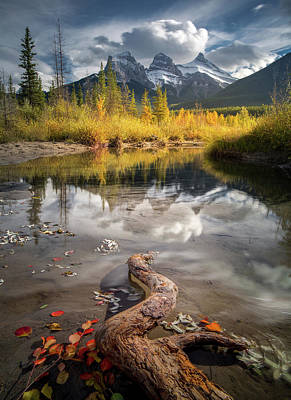Photograph - 3 Sisters Delight / Canmore / Alberta, Canada by Nicholas Parker