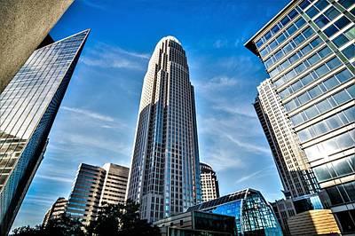 Photograph - Skyline Of Charlotte North Carolina With Blue Sky by Alex Grichenko