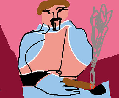 Digital Art - Smoker by Artist Dot