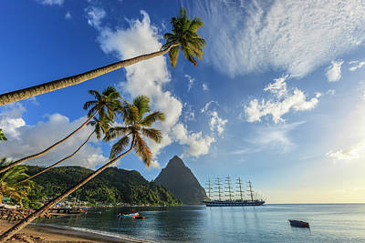 Photograph - Soufrière Bay, Saint Lucia by Flavio Vallenari