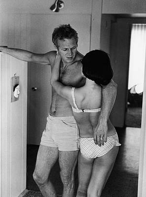 Human Interest Photograph - Steve Mcqueen & Wife by John Dominis