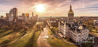 Photograph - Sunrise in Hartford Connecticut by Petr Hejl
