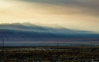 Surrealism Royalty-Free and Rights-Managed Images - surreal Owens Lake at sunset in California Usa by Alex Grichenko