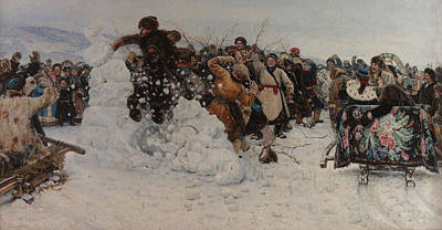 Painting - Taking A Snow Town by Vasily Surikov