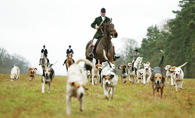 The Beaufort Hunt, Gloucestershire Art Print by Brent Stirton