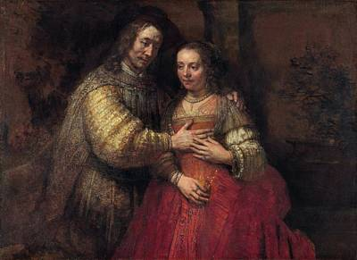 Painting - The Jewish Bride  by Rembrandt van Rijn