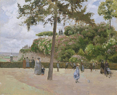 Painting - The Public Garden At Pontoise by Camille Pissarro