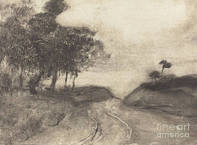 Drawing - The Road  La Route by Edgar Degas
