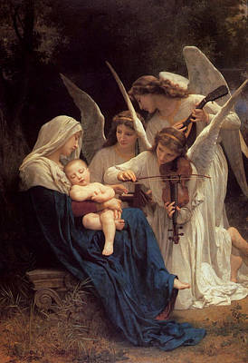 Photograph - The Virgin With Angels by William Bouguereau