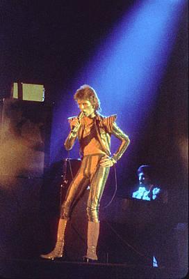 Photograph - Ziggy Stardust Era Bowie In La by Michael Ochs Archives