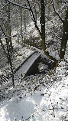Photograph - 30/01/19  Rivington. Cascade Bridge. by Lachlan Main