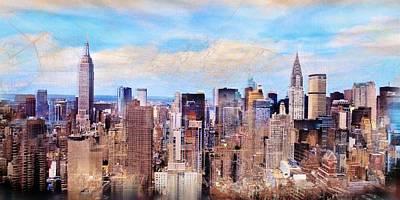 Mixed Media - New York by Javier Lopez Rotella