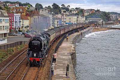 Photograph - 34052 Lord Dowding At Dawlish by David Birchall