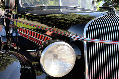 Photograph - '36 Chrysler Partial Fender And Grill by Kae Cheatham