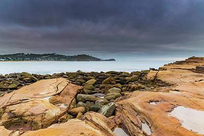 Photograph - Cloudy Sunrise Seascape by Merrillie Redden