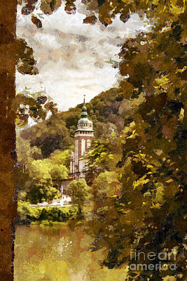 Painting - Landscape by Odon Czintos