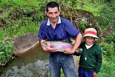 Water Droplets Sharon Johnstone - Cajamarca - Peru by Carlos Mora