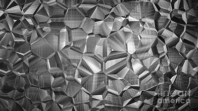 Surrealism Royalty Free Images - 3D Abstract Polygon Geometrical Pattern Ultra HD Royalty-Free Image by Hi Res