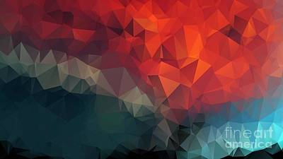 Fathers Day 1 - 3D Colorful Polygon Geometric Pattern Ultra HD by Hi Res