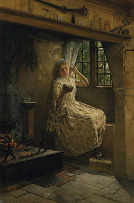 Painting - A Cosey Corner by Frank Millet