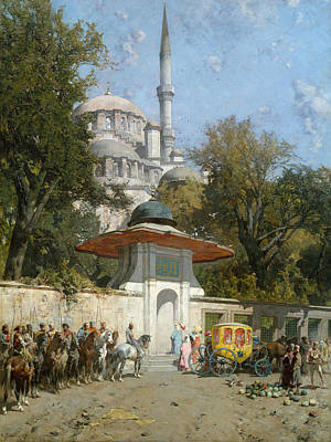 Painting - A Mosque by Alberto Pasini
