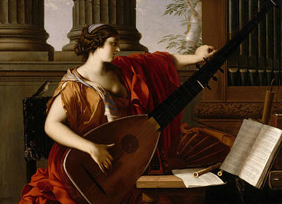 Painting - Allegory Of Music by Laurent de La Hyre