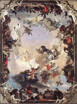Painting - Allegory Of The Planets And Continents by Giovanni Battista Tiepolo