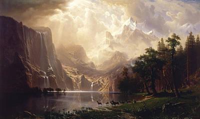 Painting - Among The Sierra Nevada by Albert Bierstadt