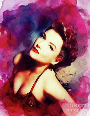 Royalty-Free and Rights-Managed Images - Anne Baxter, Vintage Movie Star by Esoterica Art Agency