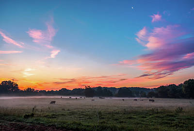 Photograph - Beautiful Dreamy Sunrise On The Farm Land In The Country by Alex Grichenko
