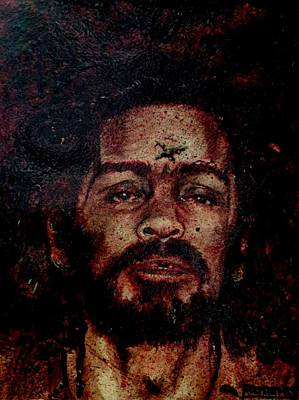 Painting - CHARLES MANSON port dry blood by Ryan Almighty