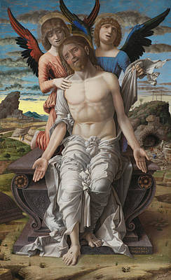 Painting - Christ As The Suffering Redeemer by Andrea Mantegna