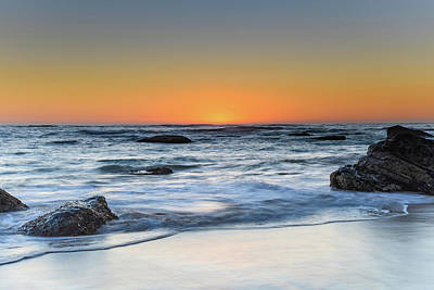 Photograph - Clear Skies Sun Rising Seascape by Merrillie Redden