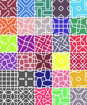 Digital Art - 4 Connect 2 Grid by REVAD David Riley
