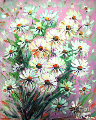 Painting - Daisies by Gina De Gorna