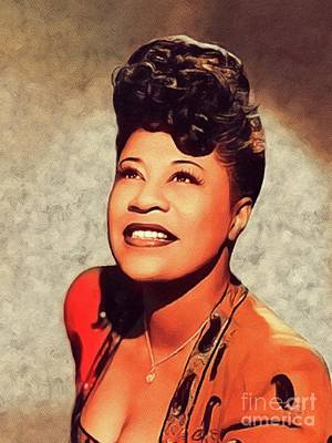 Jazz Royalty-Free and Rights-Managed Images - Ella Fitzgerald, Music Legend by John Springfield
