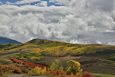 Photograph - Fall Colors Along Last Dollar Road by Ray Mathis